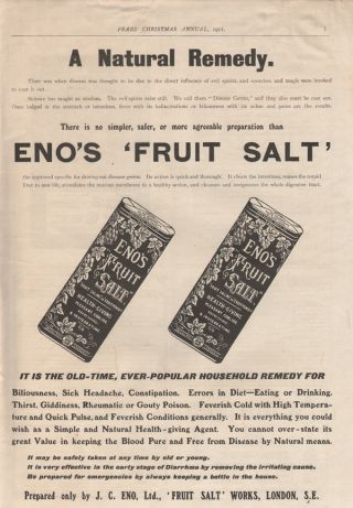 1911 Eno Fruit Salt Medicine Health Can Doctor Remedy photo