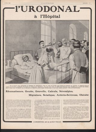 1913 L ' Urodonal Quack Medicine Medical Digestion Sonrel Doctor Nurse Hospital Ad photo