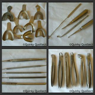 23 Items Of Vintage Dentist Medical Tools - Ash,  Dm,  Heck,  Zelex,  Casco,  Evans photo