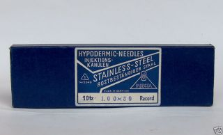 Rare German Hypodermic Medical Needles 1.  00 X 80 Minty photo