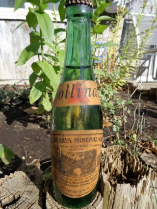 Rare Unopened Bottle 1895 - 1910 Apollinaris Mineral Water London England Spring photo