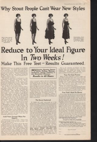 1922 Reduce To Your Ideal Figure Exercise Health Sport photo