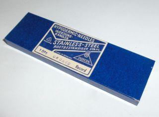 Antique German Injecta Medical Hypodermic Needles Mint photo