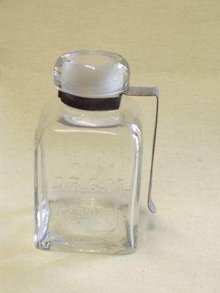 Antique Medical Glass Bottle Rare E.  K D.  R.  G.  M 529044.  Benzinstand Niederster photo