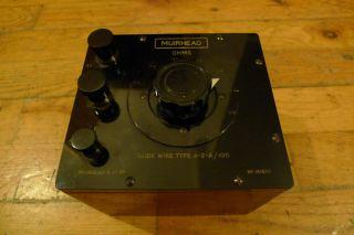 Muirhead Resistor Slide Type A2a/100 Top Quality Vintage Lab Apparatus Bulgin photo