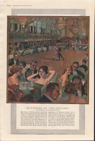 1918 Sheffield Pharmacal Delatone Hair Removal Beauty photo