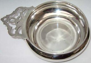 Antique Victorian English Silver Bleeding Bloodletting Bowl 1894 Heavy 7oz photo