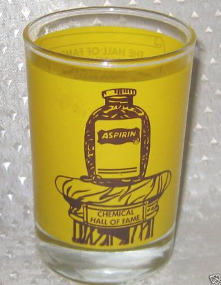 Aspirin Glass Chemical Hall Fame Pain Reliever Trademar photo