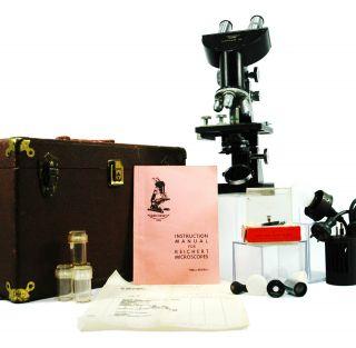 Vintage Microscope By C Reichert Wien Xvii