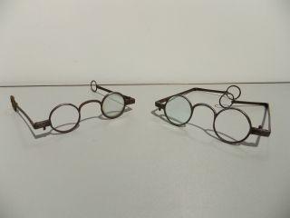 Pair Of Antique Spectacles Eyeglasses,  Circa 1702 To 1725 photo