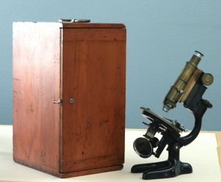 Bausch & Lomb Vintage Brass Lch Petrographic Polarizing Microscope W/case - 1929 photo