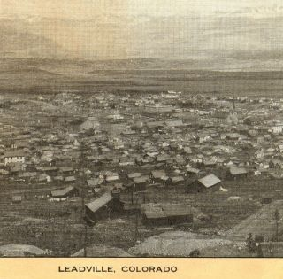 C.  1905 Leadville Colorado Mining Camp Mine Singer Sewing Photo Advertising Card photo