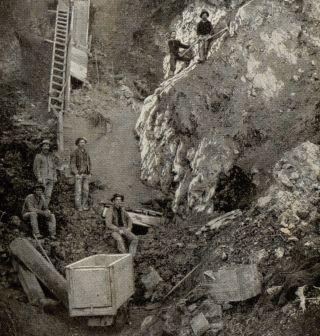 © 1904 Bohemia Mining Oregon Miners Gold Singer Sewing Photo Advertising Card photo