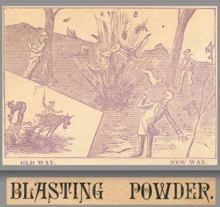 Antique Judson Blasting Powder Albert Berkey Goshen In Dynamite Adv.  Trade Card photo