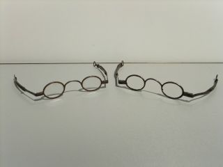 Pair Of Antique Spectacles Eyeglasses,  Circa 1770s photo