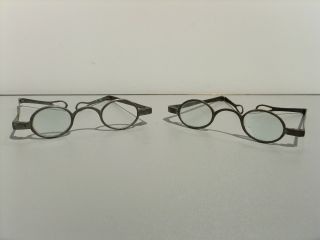 Pair Of Antique Spectacles Eyeglasses,  Circa 1760 To 1770 photo