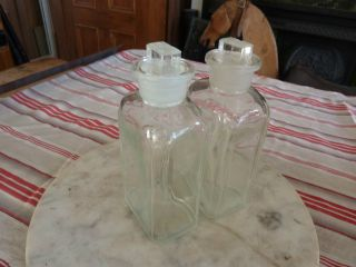 Pair Of Antique Chemist ' S Jars/bottles photo