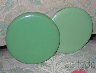 Pair Jadite Green Porcelain Ceramic Laboratory Trivets Hot Pads photo
