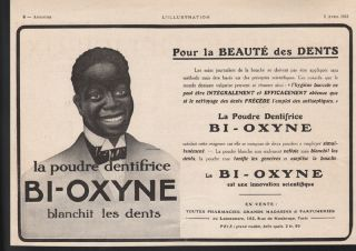 1913 Bi - Oxyne Tooth Paste Dental Black Americana Paris Health Dentist Hygiene Ad photo