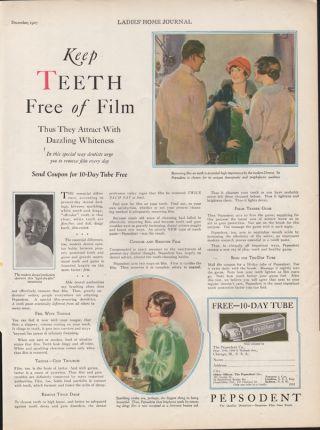1927 Pepsodent Toothpaste Tube Dentist Dental Doctor Health Whitening Gum Tartar photo