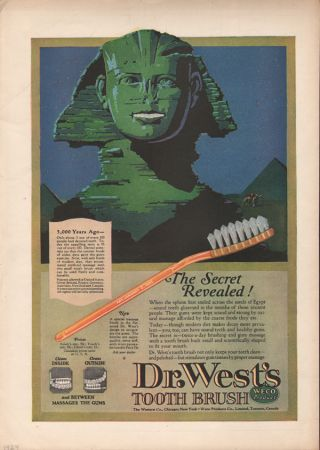 1924 Dr West Toothbrush Sphinx Egypt Weco Dental Camel Dentist Gum Health Sand photo