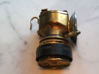 Early 1900 ' S Pat.  Pending Vintage Justrite Coal Miner ' S Carbide Light Latern photo