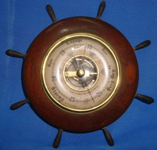 Old Vintage Forecast Barometer From England 1930 Very Rare photo