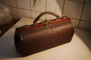 Dr ' S Bag In Very Good Condition,  Made From Interesting Material photo