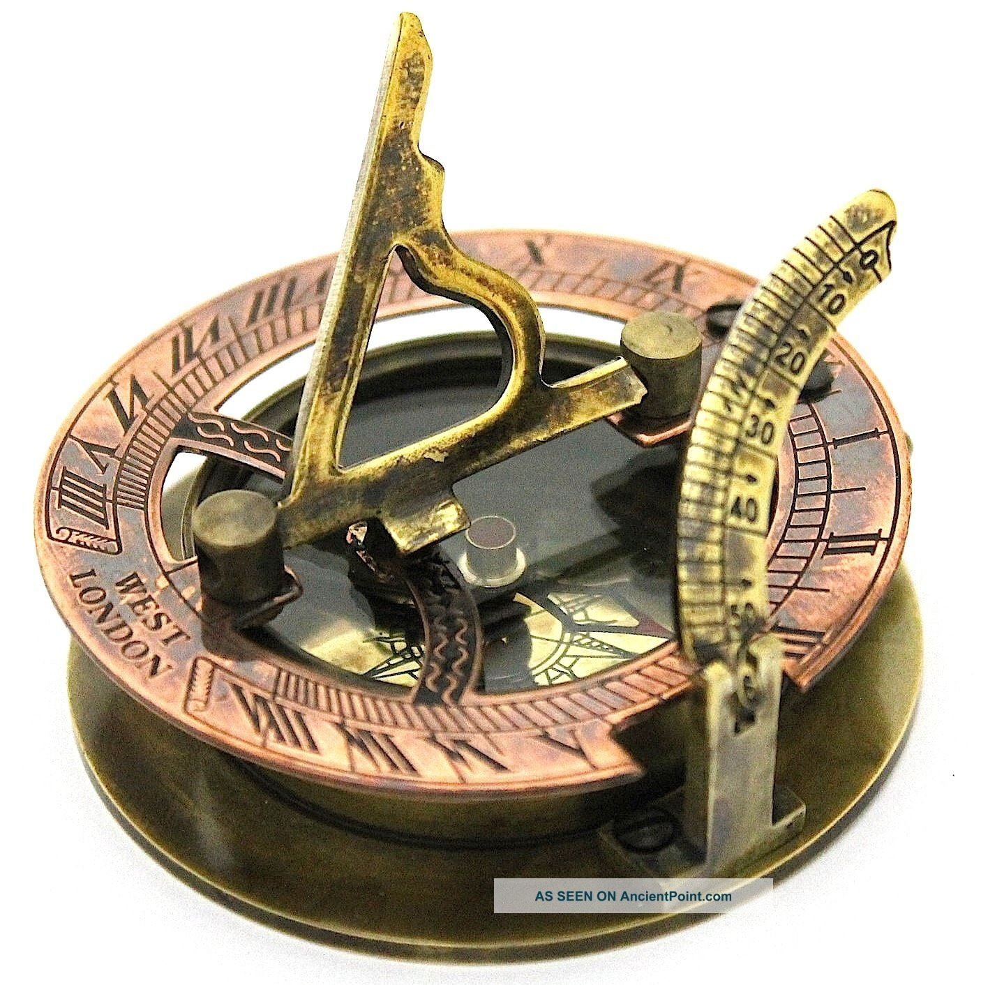 Antique Compass Antique brass sundial compass