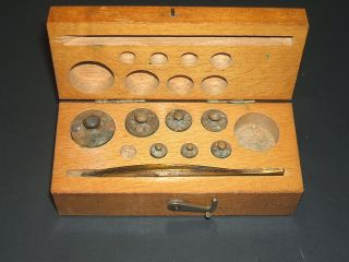 Antique Analitical Balance Weights The Michigan Drug Co photo