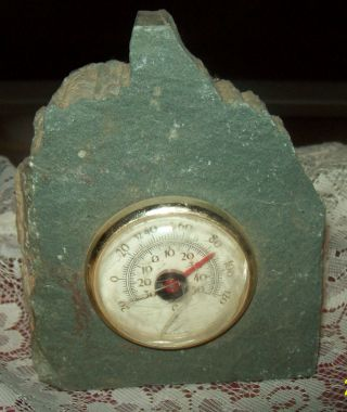 Antique Hand Made Lakeland Slate Barometer Honister Slate Mine Uk photo