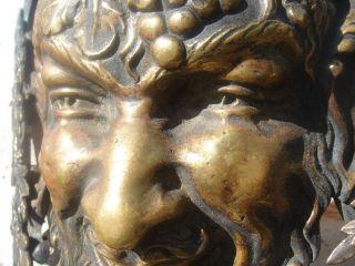 19c Bronze Mythological Satyr/bacchus/devil/demon Mask photo