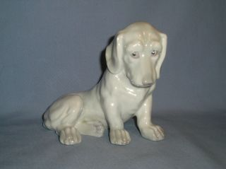 Antique Gebruder Heubach Hound Figurine 1843 To 1925 Mint Adorable Look C photo