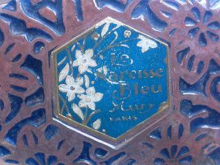 Perfume Bottle Early 20th Century,  Le Nareisse Bleu Mury Paris photo