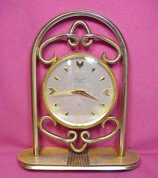 Gorgeous Rosemont Geneve - Imhof Design Desk Clock 15 Jewels 8 Days Art Deco Nr photo