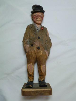 C.  J.  Trygg Wood Carving Hobo Very Rare - 11 3/4