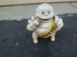 Mw Mini Cast Iron Michelin Man Tires Statue Detroit photo