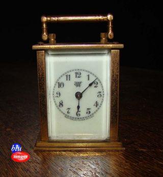 Antique Waterbury Miniature Carriage Clock photo
