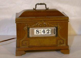 Rare Large Antique Pennwood Adler - Royal Spin Start Clock Rolling Number Cubes photo