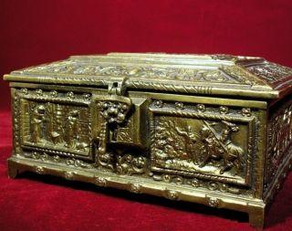 Antique - Bronze Box From Transylvania - Fast photo