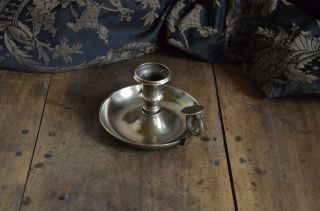Antique Solid Brass Candle Holder/