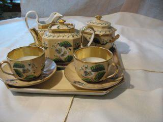 Old Paris Porcelain Tea Service For Two photo