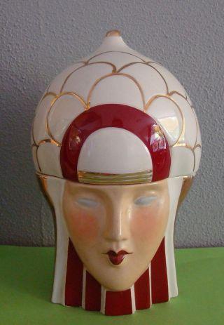 Art Deco Bonboniere Signed Robj Knight Lady Head photo