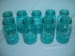 9 Ball Perfect Mason Blue Quart Jars - Wedding Lot photo