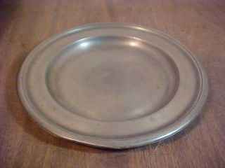 Antique Pewter Plate - William Wright photo