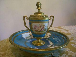 Rare Antique French Louis Xv.  Sevres Enamel 8 1/2