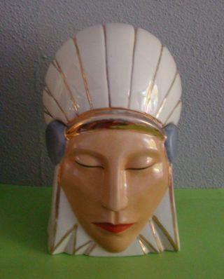 Art Deco Bonboniere Signed Robj Indian Head photo