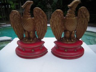 Vintage Sexton Usa Metalware American Eagle Bookends photo