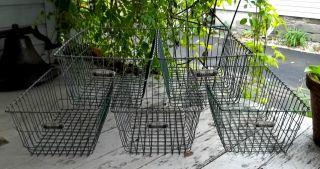 5 Vintage Gym Pool Wire Basket American Playground Machine Industrial Steampunk photo