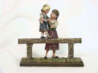 Antique Vienna Bronze Figurine Little Girls F.  Bergmann photo